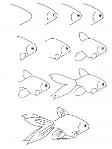 cum desenam un peste