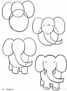 cum desenam un elefant
