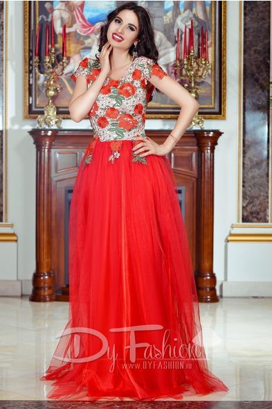 rochie rosie all red