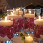 candela pahar plutitor