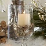 candela din pahar