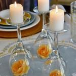 pahare decoratiune masa