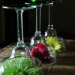 decoratiune pahare flori