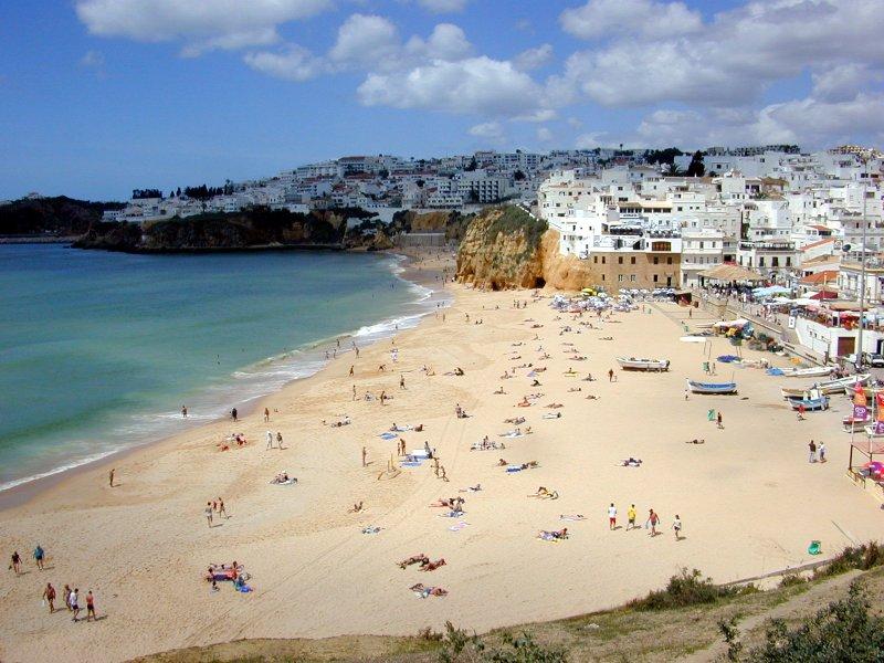 plaja Albufeira regiunea Algarve