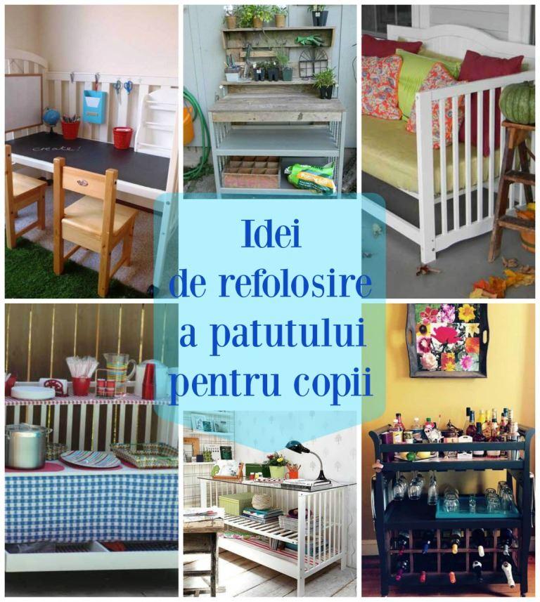 idei de refolosire a patutului pentru copii