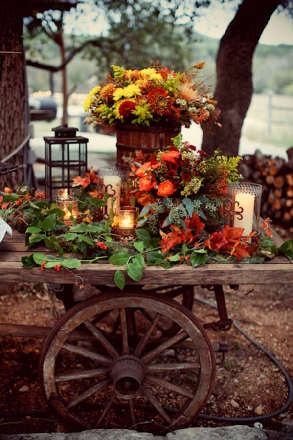 aranajament flori caruta toamna