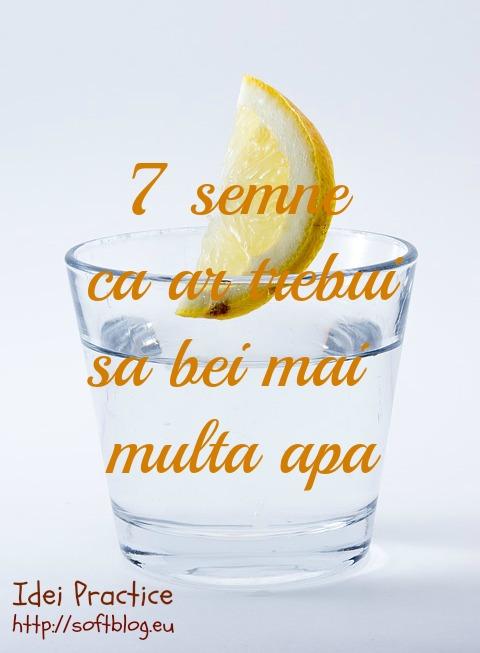 sa bei mai multa apa