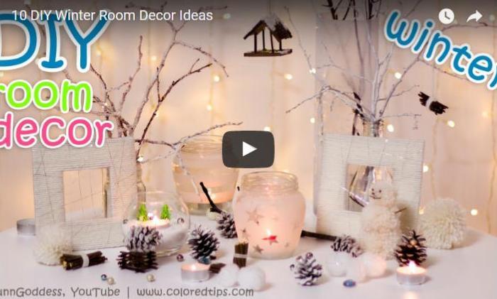 idei de decoratiuni de iarna