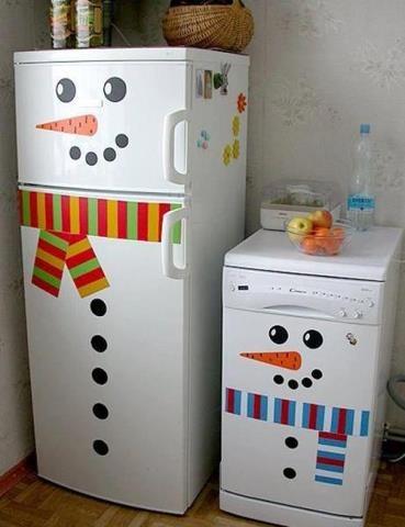 frigider decorat