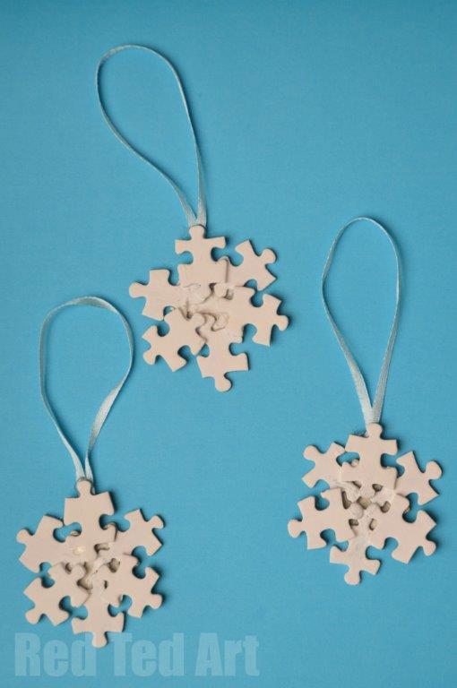 ornament Craciun puzzle