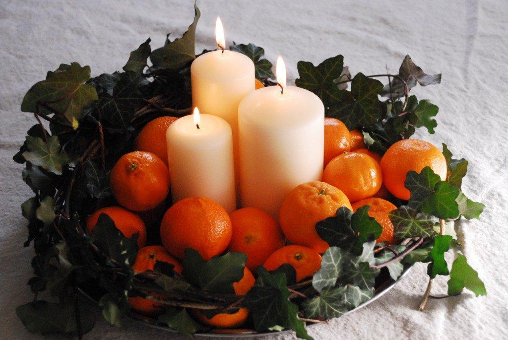 tava lumanari portocale