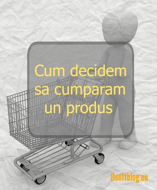 decizia de a cumpara un produs