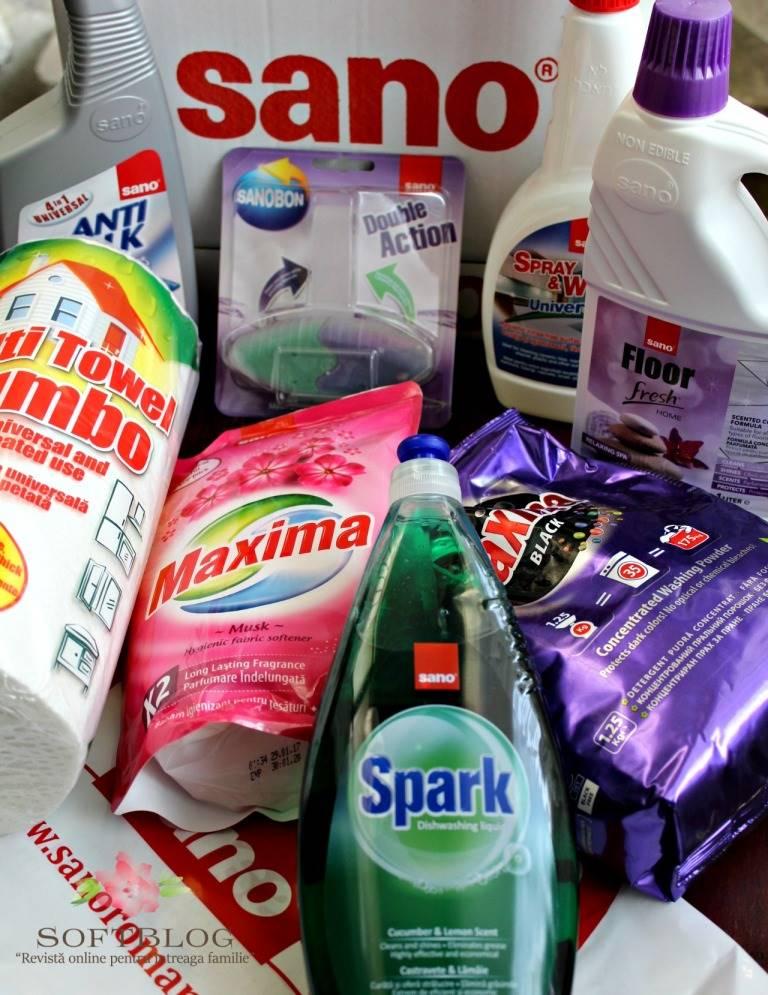 unboxing produse de curățenie Sano