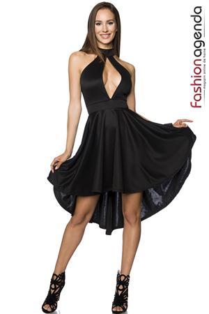 rochie neagra croi clos asimetric