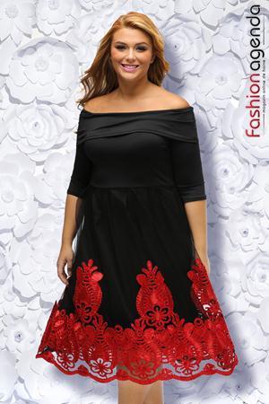 rochie negru cu rosu