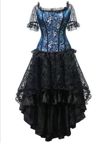 corset albastru