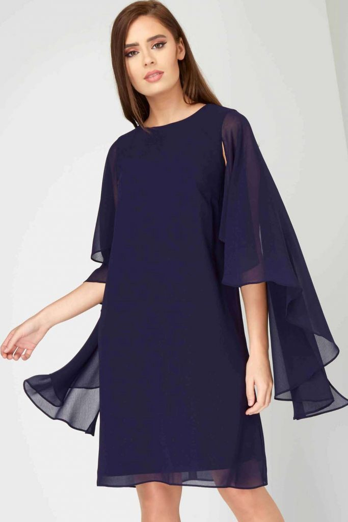 rochie albastră croi lejer