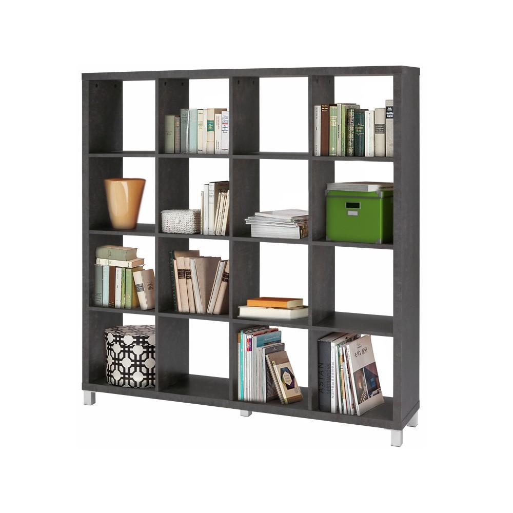 biblioteca minimalista gri