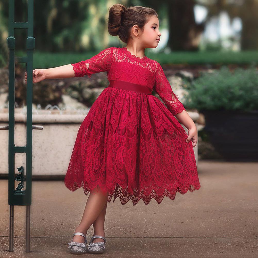 rochie elegantă fete roșu